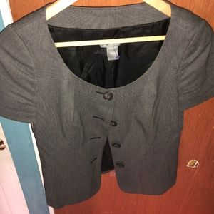 ANN TAYLOR Button Up Size 4 Womens Top Gray